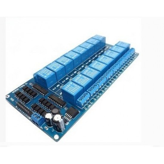 16 Channel Relay Module 5V 12V Control board with Optocoupler Protection belt in LM2596 Power Supply