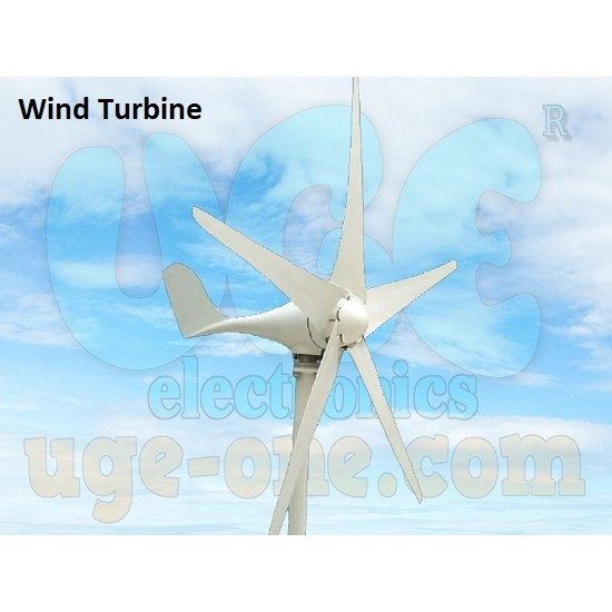 Green Energy Wind Turbine Power Generator 400w 12v Horizontal 5-Blades with Charge Controller