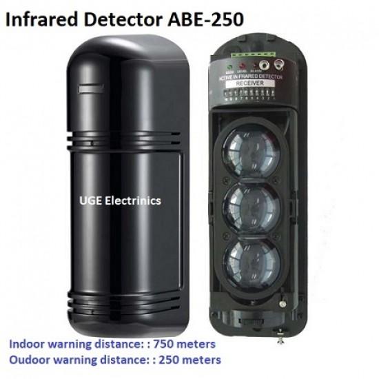 3-Beams IR Infrared Motion Detector ABE-250  Indoor Distance 750m Oudoor Distance  250m