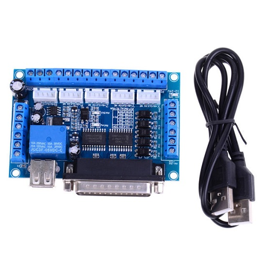 5 Axis CNC Breakout Interface Board