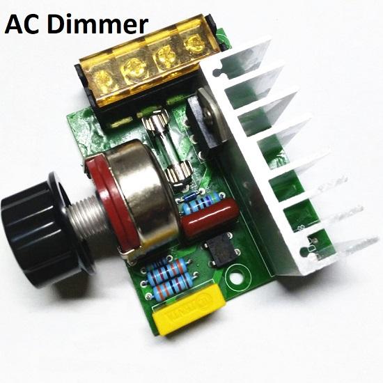 AC Thyrestor Load Regulator Dimmer Controller 4000W OutPut 0-220v AC