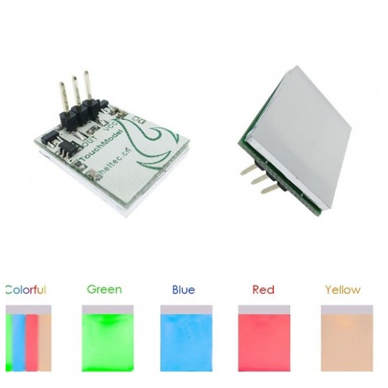 HTTM Capacitive Touch Switch Color RGB Blue Red Yellow Green