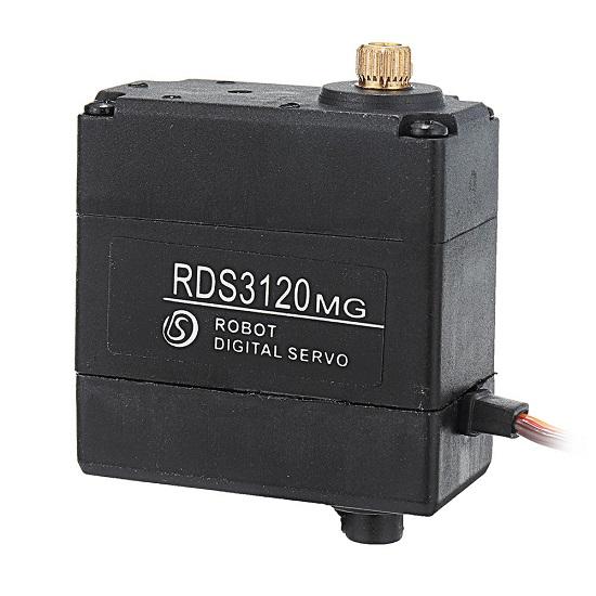 RDS3120MG 180° 22kg Dual Ball Bearing Metal Gear Digital Servo For DIY RC Robot Arm