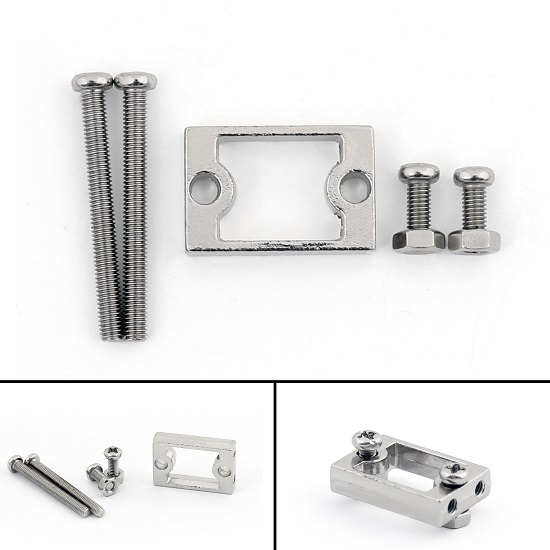 TT Motor Bracket Holder aluminum alloy For Smart Car 2WD 4WD Chassis Wheels include screw fasteners