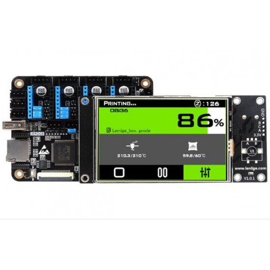 ARM32 bit LERDGE-X with 3.5 inch Touch Screen 3D Printer Motherboard Control Board  DIY Main Control Board kit