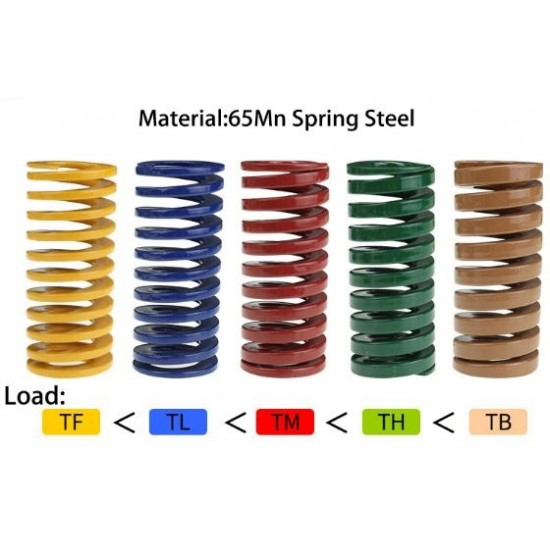 Spring 8x25mm Load TL Yellow Blue  for 3d Printer Heated Bed Leveiling