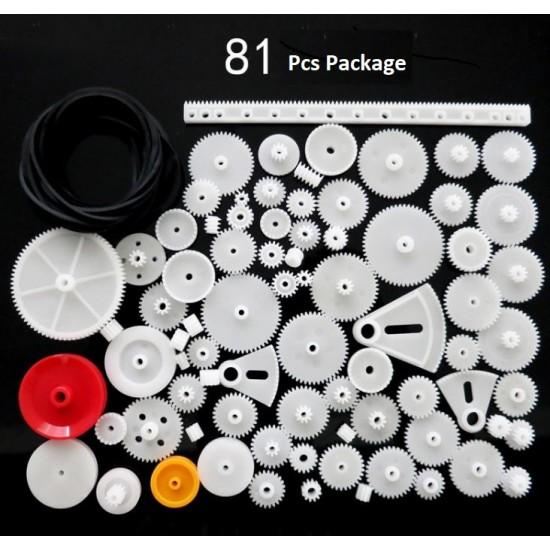 DIY 81 Pieces Plastic Gear Set