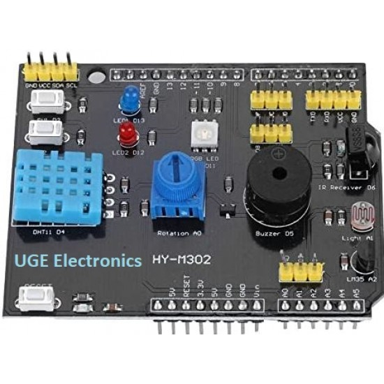 Arduino UNO R3 9 in 1 Multifunctional Expansion Board DHT11 Temperature and Humidity LM35 Buzzer