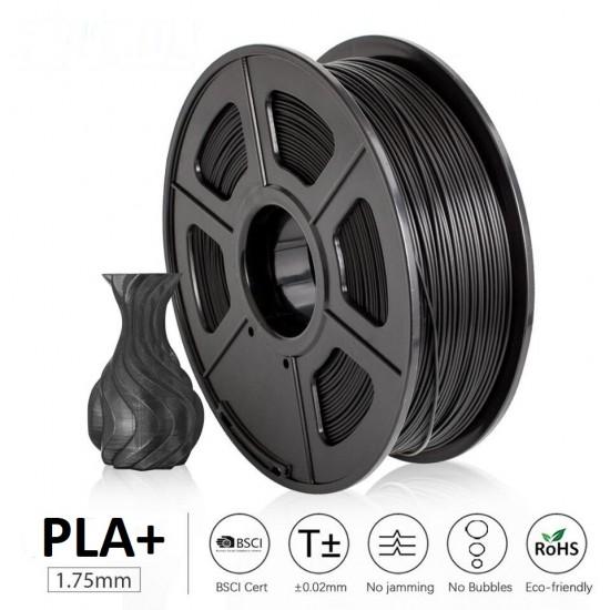 UGE Brand Filament PLA Plus 1.75mm - Black Color Weight 1kg   Excellent Quality