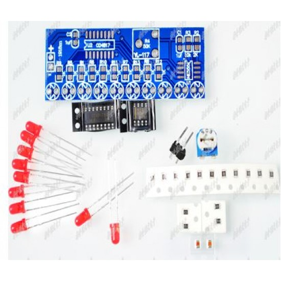 DIY Flasher Running Water Kit LM555 and CD4017