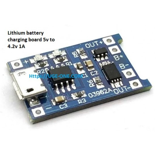 Micro USB 5V 1A 18650 Lithium Battery Charger Board With Over Discharge Protection Module