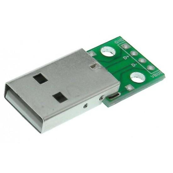 USB Type A Breakout Board – Male