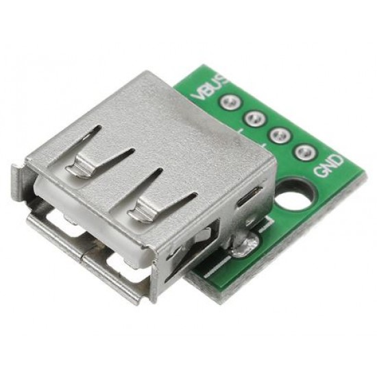 USB 2.0 Female Breakout Adapter  Connector to DIP 2.54mm Module