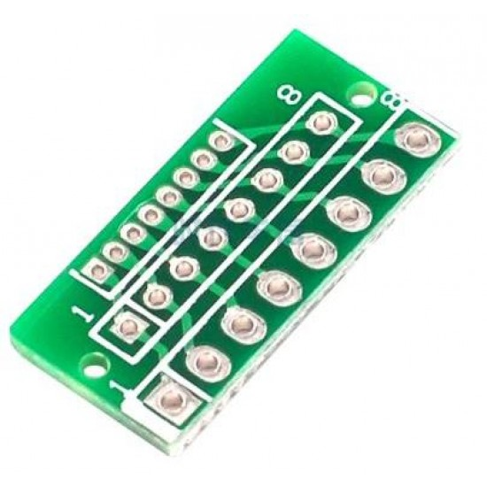 Wireless Module Adapter Plate PCB 1.27MM To 2.0MM 2.54MM 8-pin Or 12-pin three-row 24 holes