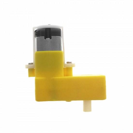 90 Degree Yellow DC Motor DC3-6V  TT Motor  Reducer L shaped Curved