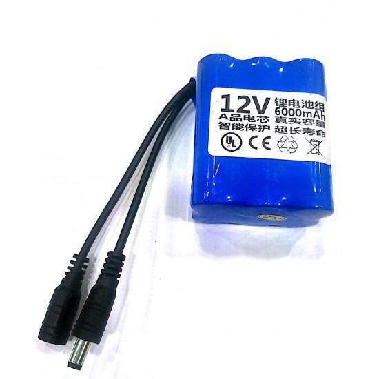 12V 6000mah Lithium ion Battery pack inside18650 battery