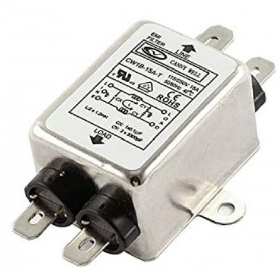 Noise Suppressor Power EMI Filter, single-phase 220V purification 10A Filter CW1B-10A-T AC 115/250V,10 Amp