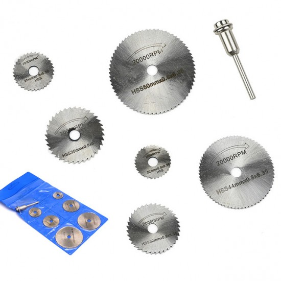 7 pieces Mini Circular Saw Blade Rotary Tool for Rotary Metal and Wood Cutter Tool Set