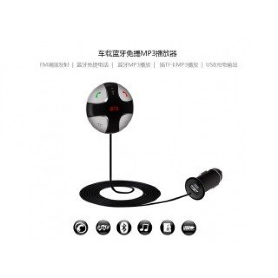 Multi-function wireless Bluetooth car kit with car charger mp3 fm transmitter Handsfree Calling