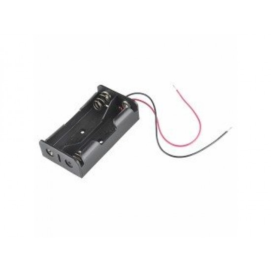 2 Cell Li-on Battery Holder 2x18650 (wire leads)