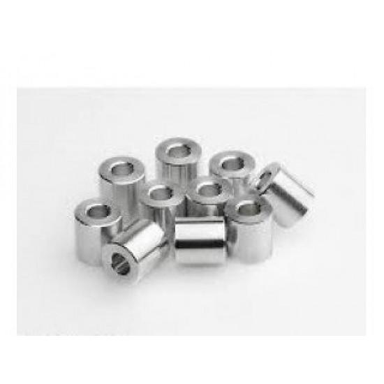 Aluminum spacer 5.1 x 6 x 10 mm