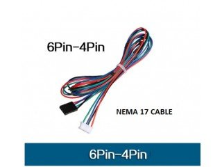 4pin to 6pin 1m Long cable for Nema17 motor