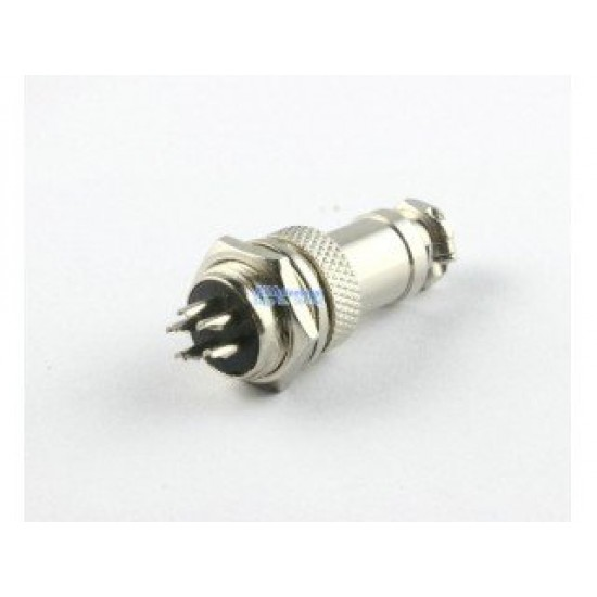 Aviation Plug 5-Pin 16mm GX16-5 Male and Female Panel Mounted Metal Connector