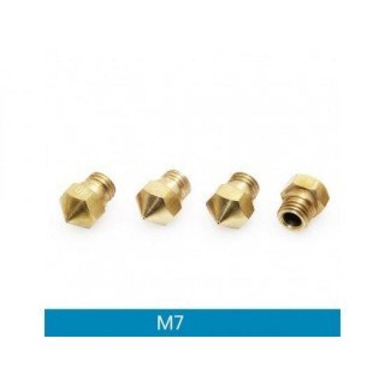 3D Printer Extrusion Brass Nozzle MK10 M7 0.2mm for 1.75 Filament