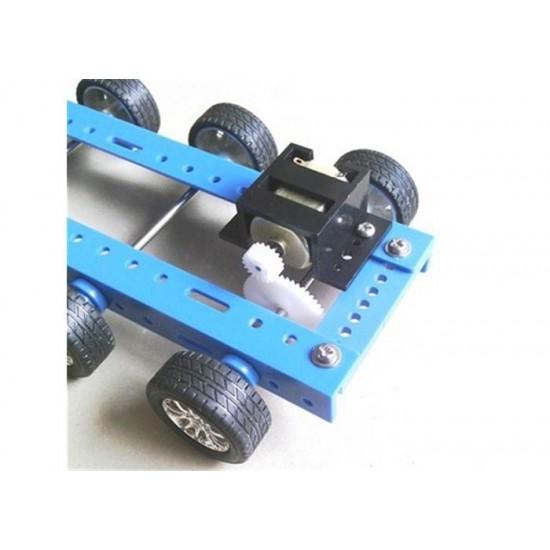 DC Motor Bracket for 130 size motors - tough black ABS plastic