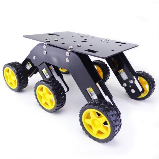 6WD Mars Rover Avoiding Obstacles Acrylic 6 Wheel Drive for DIY Robotics