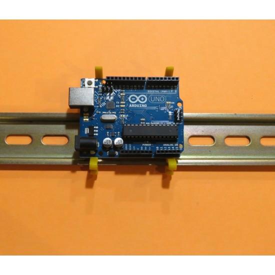 Enhanced Arduino DIN rail clip & bumper
