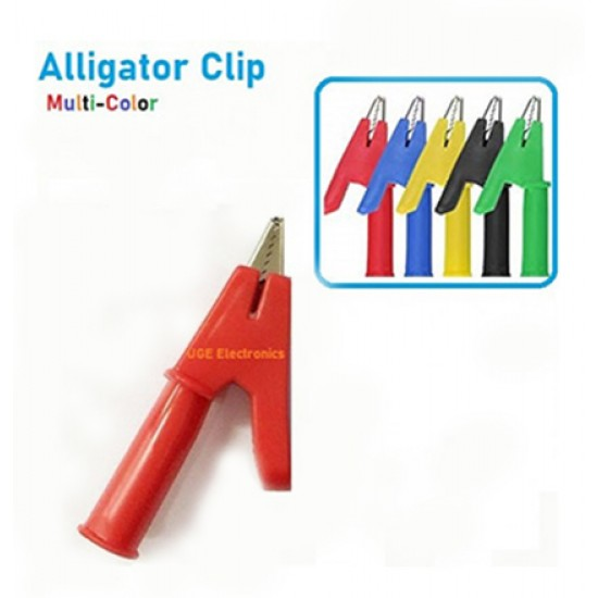 Alligator Test Wire Jack Fish Clip with 10m Opening  Jaw and 4mm banana plug Entrance
