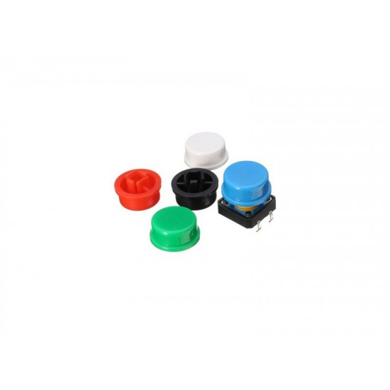 Round and Square Push Button Cap for 12×12×7.3mm Switch