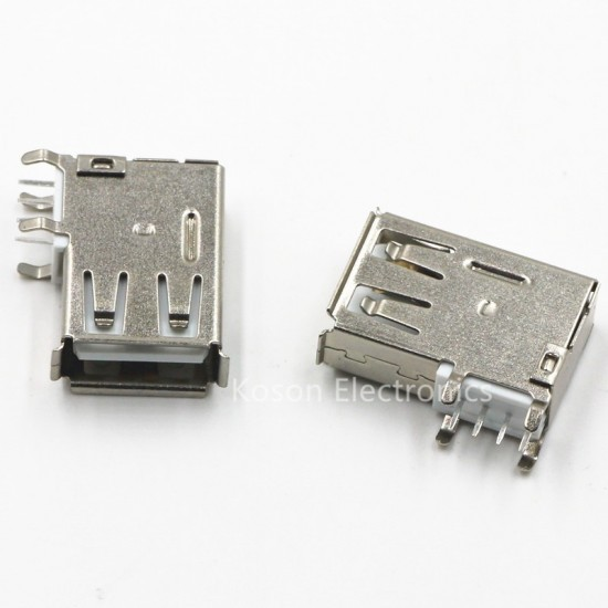 USB Type-A Female PCB Mount Socket Connector High Quality Vertical Usb