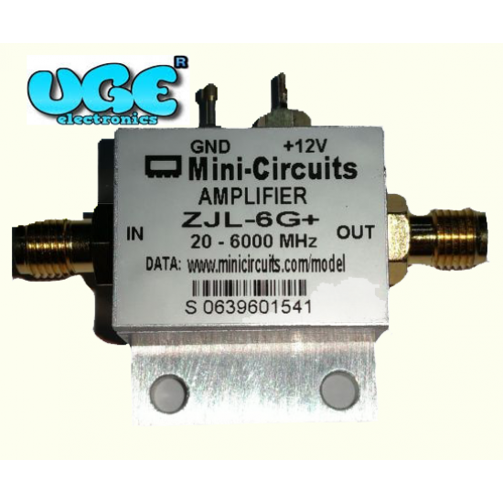 Mini Circuits RF Amplifier 20-6000 MHz 12dB Gain 10dBm Mini-Circuits ZJL-6G plus