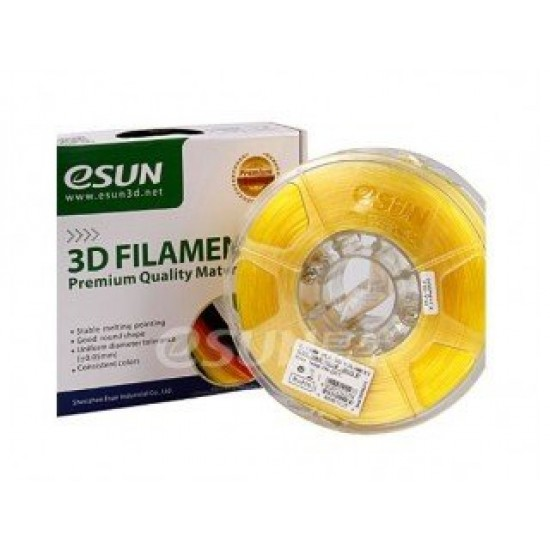 eSUN 3D PLA 1.75mm - Glass Lemon Yellow Color
