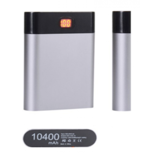 4-Section Multicolor Metal Power Bank Aluminum Case Box Without Battery