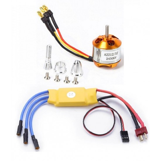Brushless Motor A2212 / 5T 2450KV Outrunner Motor For RC Quadcopters With 30A Firmware Motor Speed Controller