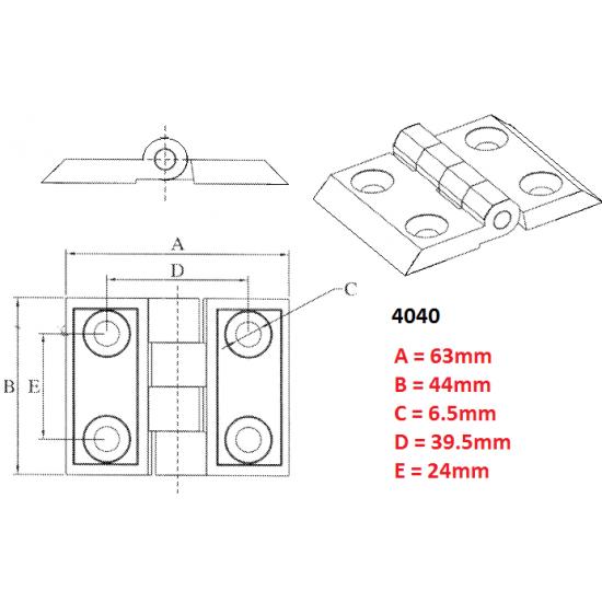 Industrial aluminum profile 4040 European standard Metal Door Hinge