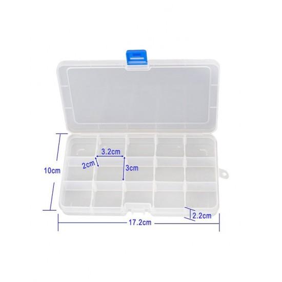 Plastic Fliptop Boxes 15 Compartments
