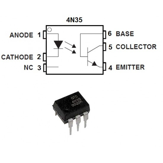 4N25 OptoCoupler Optoisolator DIP IC