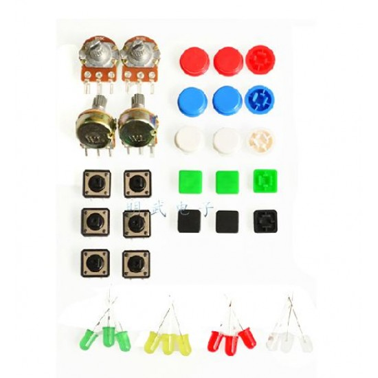 Components kit for Starting learning Electronics with Arduino