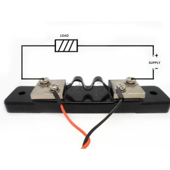 DC Current Shunt Sensor 100A/75mV Resistor