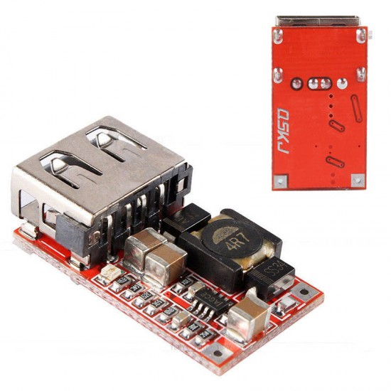 DC-DC Step-Down Module 6-24V to 5V 3A Car USB Mobile Phone Charger