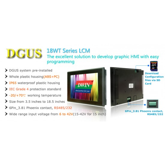 DGUS TFT LCD Module DWIN DMT80600L080-15WT 8 inch with Frame