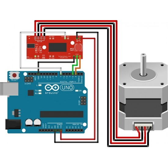 A3967 Microstepping EasyDriver for Stepper Motors
