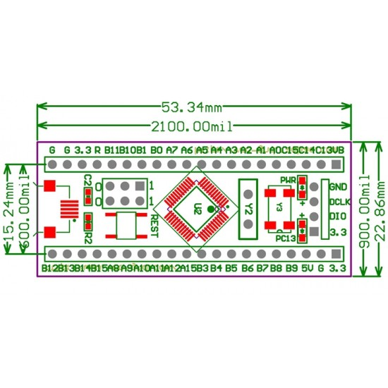 STM32F103C8T6 STM32 Basic ARM development board DIP Module