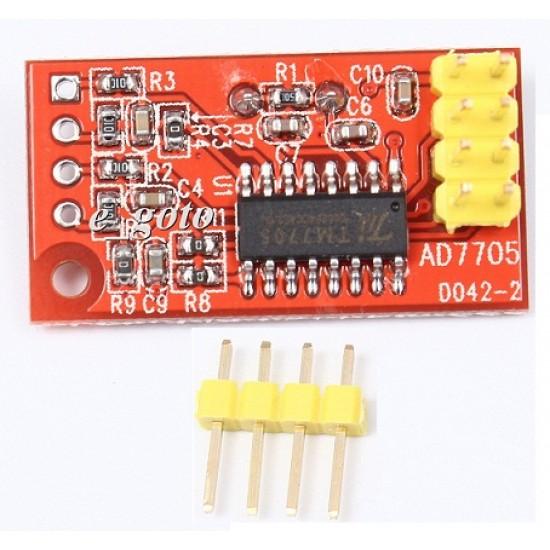 TM7705 / AD7705 Dual Channel 16bit ADC Module