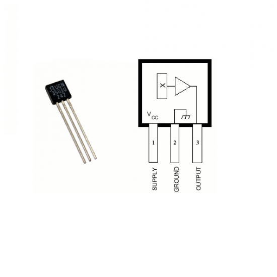 UGN3503 Hall effect Sensor IC / Magnetic Sensor IC