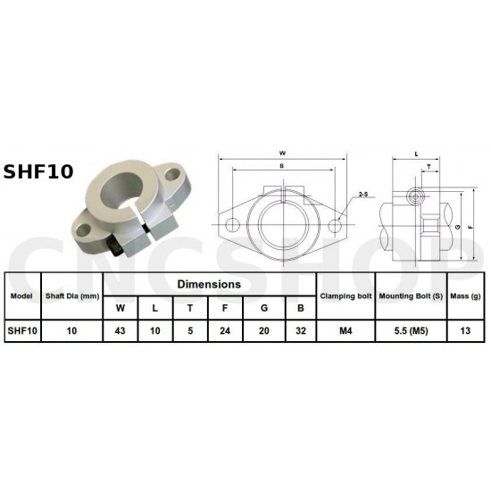 3D printer Egypt CNC SHF10 10mm End Shaft Support
